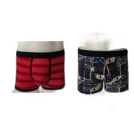 Boxers streep en grafisch print