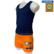 Ondergoed set effen Hemd & Boxer of Slip