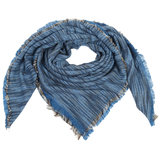 sjaal colour stripes blauw