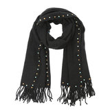 sjaal met studs zwart