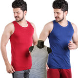 Embrator heren Tank-Top mouwloos ronde hals Donker rood_
