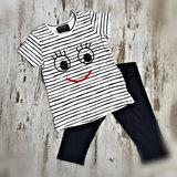 DICE Smile pyjama blauw alleen maat 122/128_