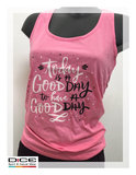 dice dames top good day roze