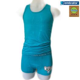 Embrator Jongens Ondergoedset Olifant turquoise 4-5 jaar