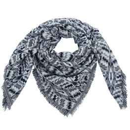 Wintersjaal Autumn Pattern vierkant grijs
