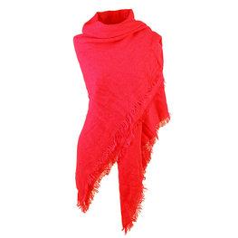 Wintersjaal Sweet winter vierkant rood