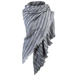 Wintersjaal Colour Stripes vierkant grijs