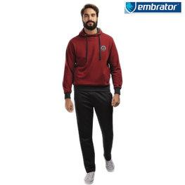 Embrator Joggingpak Highland donker rood / donker grijs t/m 3XL