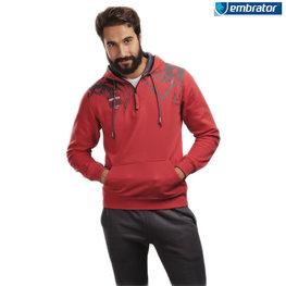 Embrator Joggingpak rood / grijs