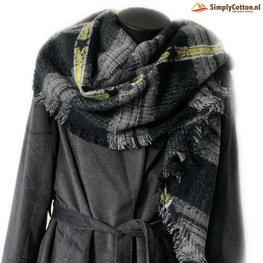Wintersjaal Stars & Stripes zwart/wit