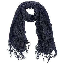 Sjaal Fuzzy zwart/grijs gemêleerd