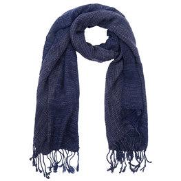 Sjaal Fuzzy blauw gemêleerd