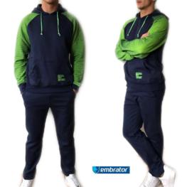 Embrator Joggingpak donkerblauw/lime