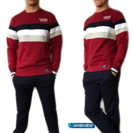 Embrator Joggingpak Dynamic bordeaux rood/donkerblauw