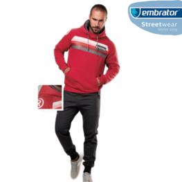 Embrator Joggingpak Eternity rood/grijs