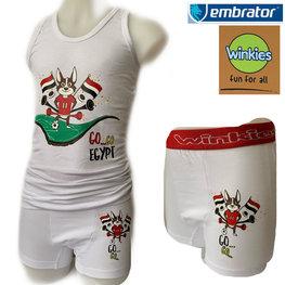 Embrator Jongens ondergoed set Go Egypt wit 8-9 jaar