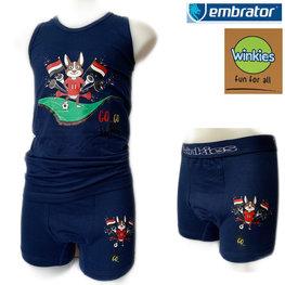 Embrator jongens ondergoed set hemd&boxeer Go Egypt blauw 10-11 jaar