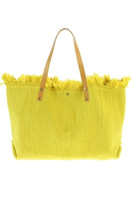Strandtas / Shopper canvas katoen mosterd geel