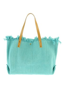 Strandtas / Shopper canvas katoen Turquoise
