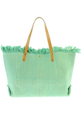 Strandtas / Shopper canvas katoen Mint