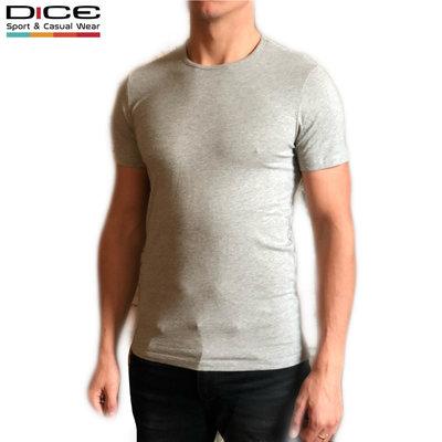 DICE T-shirt ronde hals Grijs gemêleerd