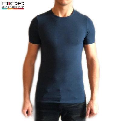 DICE T-shirt ronde hals Blauw