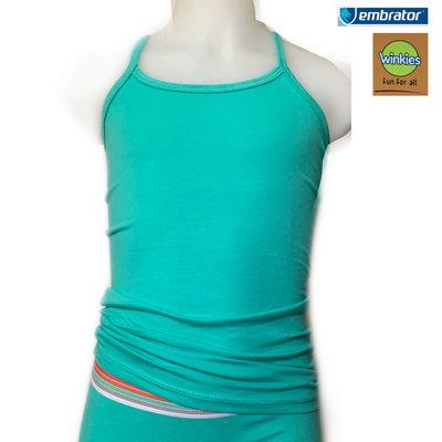 Embrator Meisjes Spaghetti hemdje turquoise