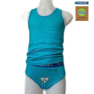 Embrator Jongens Ondergoedset Olifant turquoise 6-7 jaar