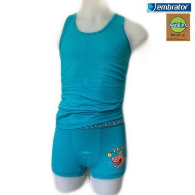Embrator Jongens Ondergoedset Idea turquoise 6-7 jaar