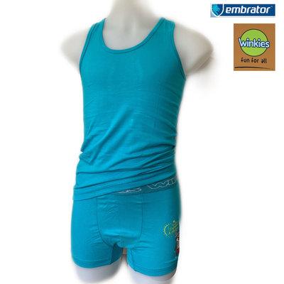 Embrator Jongens Ondergoedset Summer turquoise 8-9 jaar