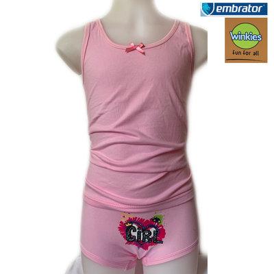 Embrator Meisjes Ondergoedset Girl roze 8 t/m 11 jaar