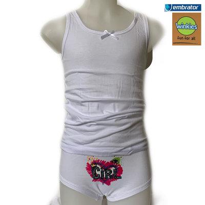 Embrator Meisjes Ondergoedset Girl wit 8 t/m 11 jaar