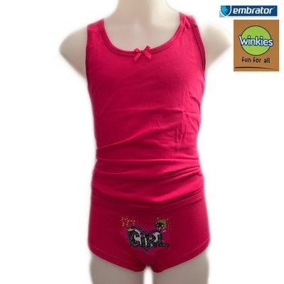 Embrator Meisjes Ondergoedset Girl fuchsia 8-9 jaar