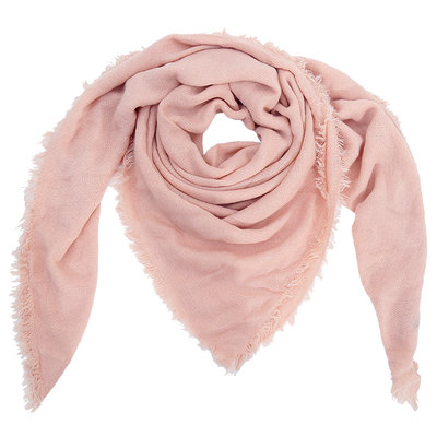 Wintersjaal Sweet Winter vierkant roze