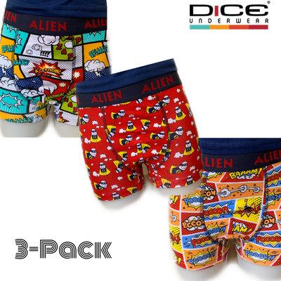 DICE 3-pack Jongens Boxers All over Print