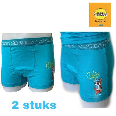 Embrator 2-pack jongens Boxershort met opdruk turquoise Summer 8-9 jaar