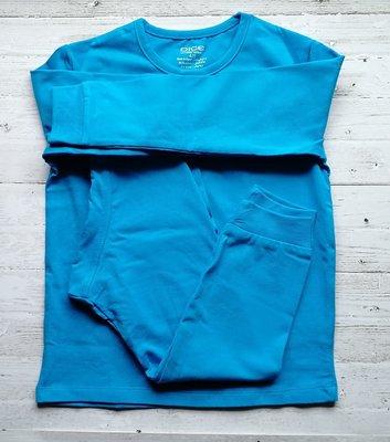 DICE Jongens Pyjama effen 2-delig cobolt blauw