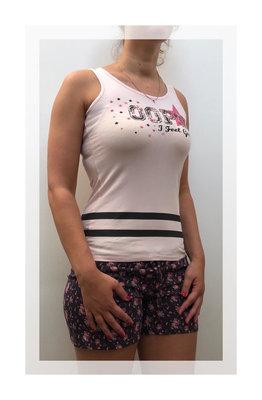 Dames Huispak / Pyjama Oops I feel Good 2-delige set roze/zwart gebloemd
