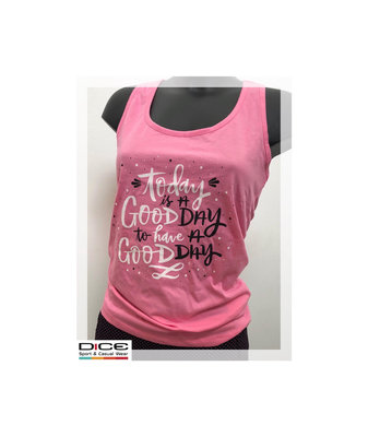 Dice Dames Top Good Day roze Alleen L