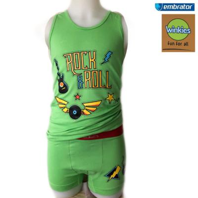Embrator Jongens ondergoed set hemd+boxer Rock&Roll
