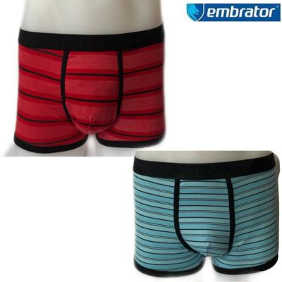 Embrator 2-pack heren Boxer stripe rood/blauw