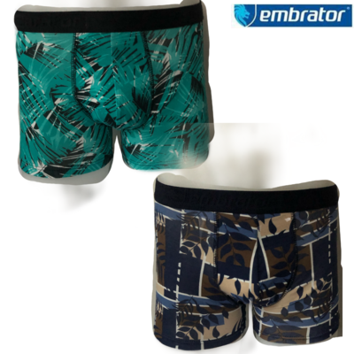 Embrator 2-pack heren Boxers leaves