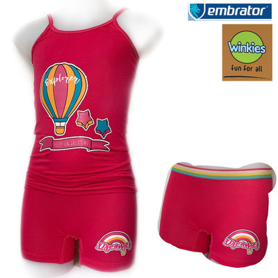 Embrator Meisjes ondergoed setje spaghetti+boxer explorer fuchsia