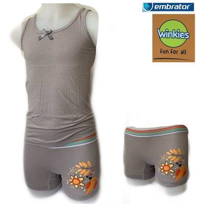 Embrator meisjes ondergoed 3-delig Nature licht grijs 4-5 jaar