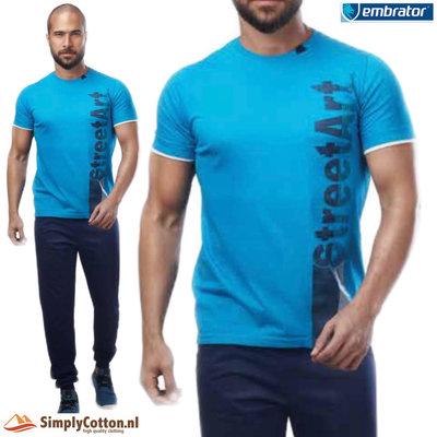Embrator Huispak shirt en broek blauw