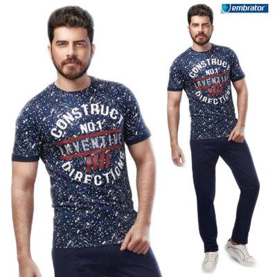 Embrator Huispak Construction shirt en broek donkerblauw/wit