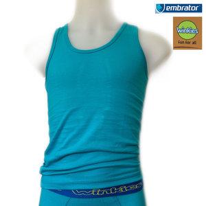 embrator jongens hemdje turquoise