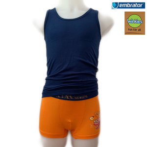 embrator jongens ondergoedsetje oranje/donkerblauw