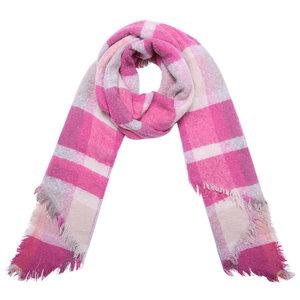 wintersjaal double check roze