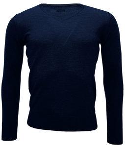 heren trui wol donkerblauw